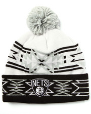 Men - Brooklyn Nets NBA Current Geotech Cuffed Pom Knit Hat