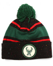 Men - Milwaukee Bucks NBA Vintage Speckled Cuffed Pom Knit Hat