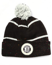 Men - Brooklyn Nets NBA Vintage Speckled Cuffed Pom Knit Hat