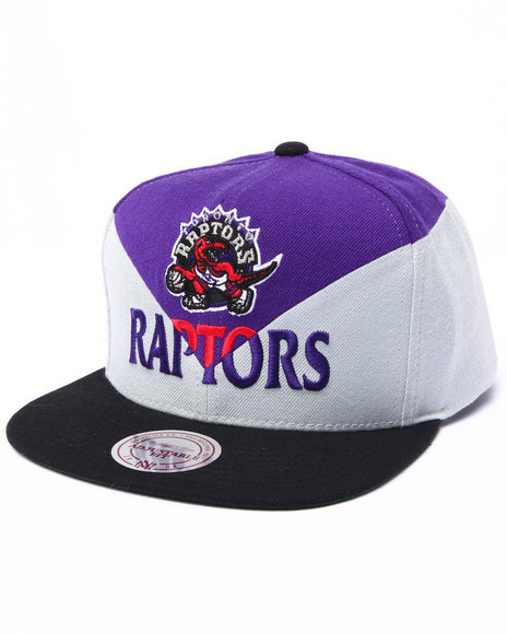 Mitchell & Ness Men Toronto Raptors Amplify Diamond Cut & Sew Snapback Multi