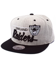 Men - Oakland Raiders NFL Throwback City Bar Script Grey Snapback