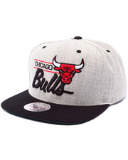 Men - Chicago Bulls NBA Current City Bar Script Grey Snapback