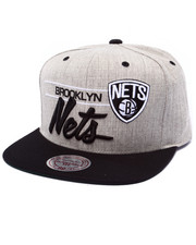 Men - Brooklyn Nets NBA Current City Bar Script Grey Snapback