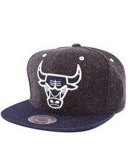 Men - Chicago Bulls NBA HWC Tweed Crown Denim Visor Strapback