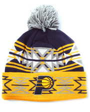Men - Indiana Pacers NBA Current Geotech Cuffed Pom Knit Hat