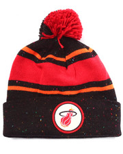 Men - Miami Heat NBA Vintage Speckled Cuffed Pom Knit Hat