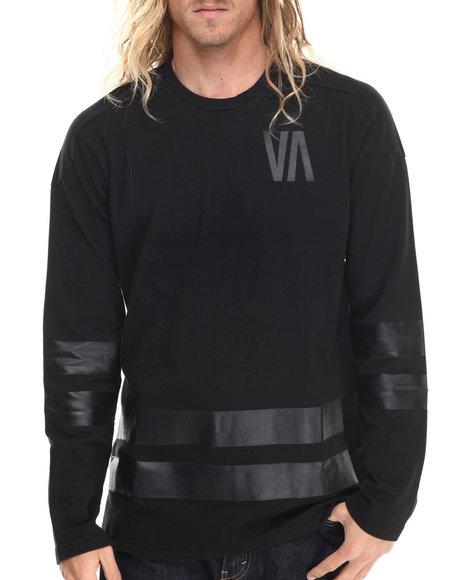 RVCA - Men Black Slapshot L/S Jersey