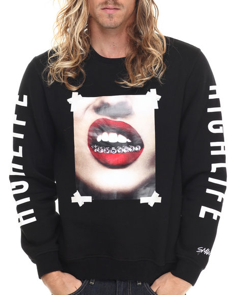 S - M - W - Men Black Diamond Grills Crewneck Sweatshirt