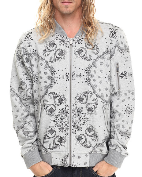 Ur-ID 213539 Allston Outfitter - Men Grey Paisley Print Jacket