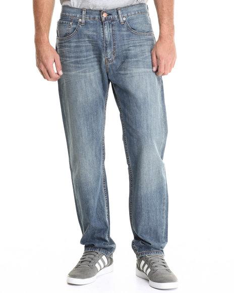 Levi's - Men Light Wash 505 Regular Fit Medium Chip Jean
