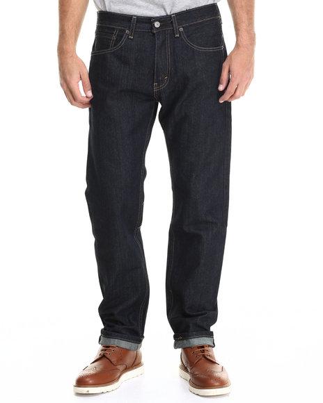 Levi's - Men Dark Wash 505 Regular Fit Tumbled Rigid Jean
