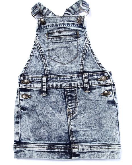 La Galleria - Girls Light Wash Acid Wash Skirt-All (4-6X)