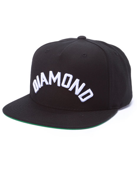 Diamond Supply Co Men Diamond Arch Snapback Cap Black - $21.99