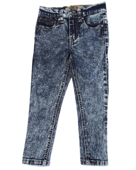 La Galleria - Girls Blue Jessica Skinny Zipper Ankle Jeans (2T-4T)
