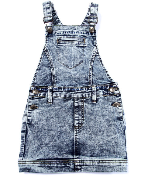 La Galleria - Girls Light Wash Acid Wash Skirt-All (7-16)