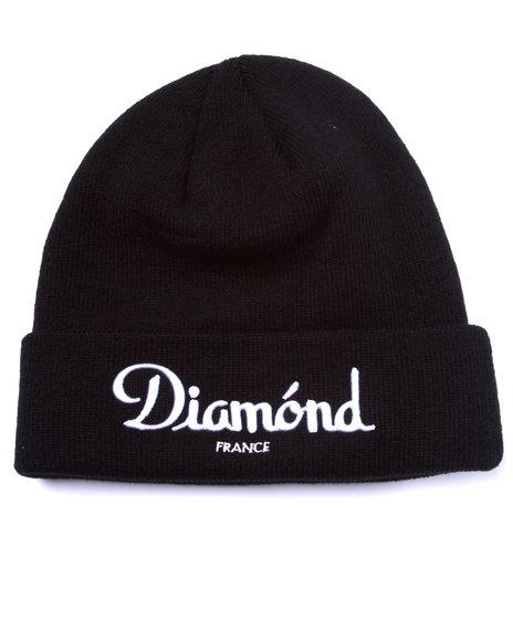 Diamond Supply Co Men Champagne Beanie Black