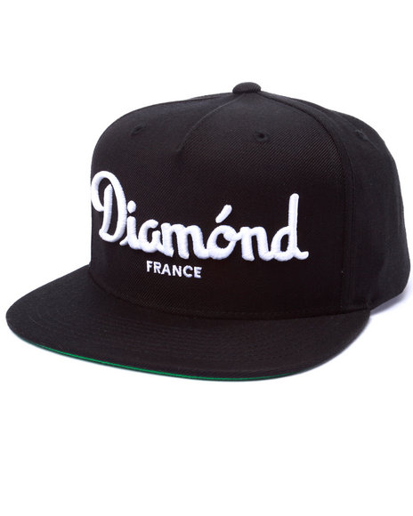 Diamond Supply Co Men Champagne Snapback Cap Black