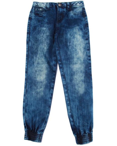 La Galleria - Girls Dark Blue Denim Jogggers (7-16)