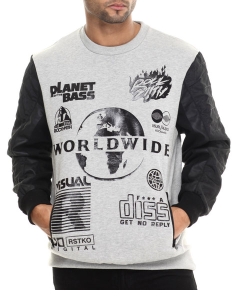 Ur-ID 213552 Rocksmith - Men Grey Metric Sweatshirt