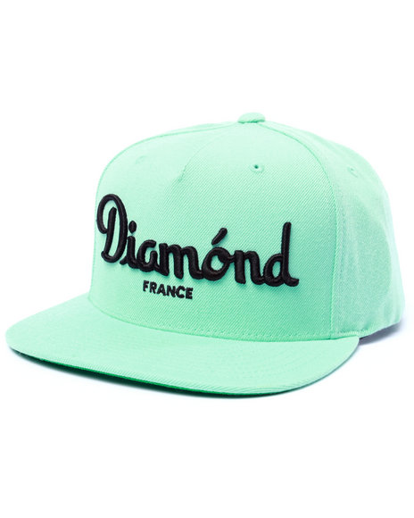 Diamond Supply Co Men Champagne Snapback Cap Blue - $23.99
