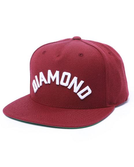 Diamond Supply Co Men Diamond Arch Snapback Cap Maroon