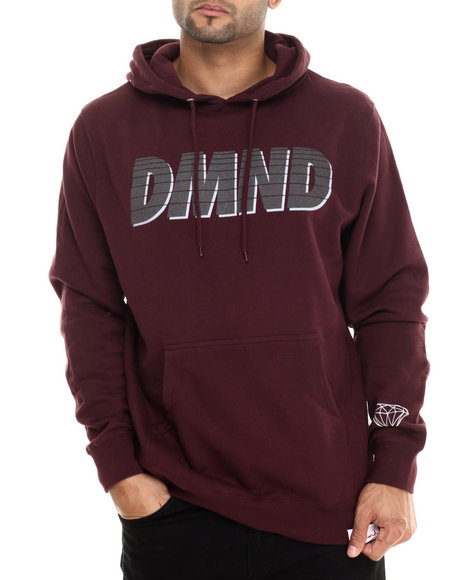 Diamond Supply Co - Men Maroon Glory Pullover Hoodie