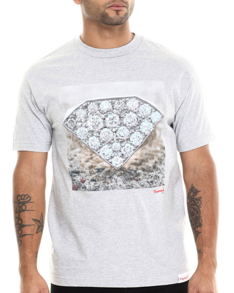 Diamond Supply Co Grey T-Shirts