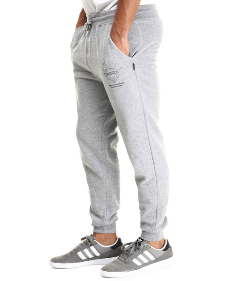 Diamond Supply Co Men Brilliant Sweatpants Grey X-Large