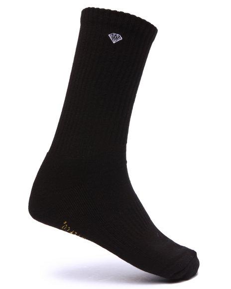 Diamond Supply Co Men O G Script High Socks Black