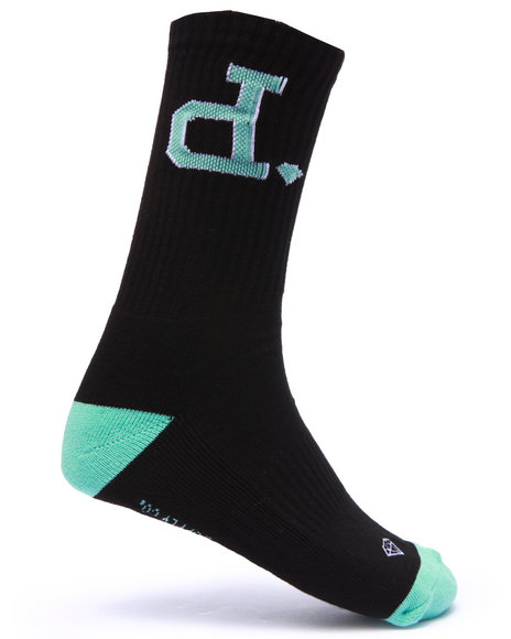 Diamond Supply Co Men Un Polo High Cut Socks Black - $14.00