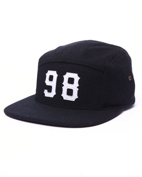 Ur-ID 222998 Diamond Supply Co - Men Navy Melton 98 5-Panel Cap