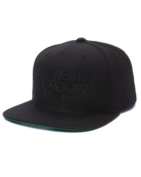 Ssur Men The Cut C D F D Snapback Cap Black