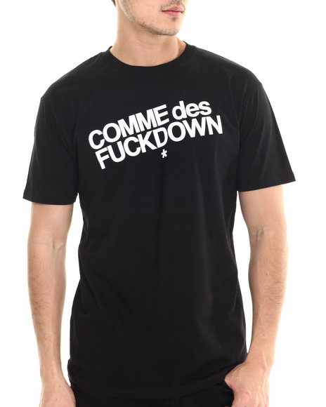 Ur-ID 213598 SSUR - Men Black The Cut Comme Des Fuckdown Tee