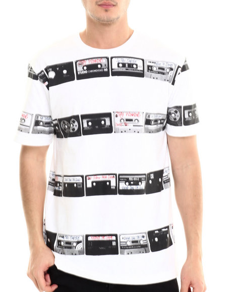 Rocawear - Men White Tapes Tee