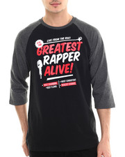 Men - Greatest Rapper Alive Raglan Tee