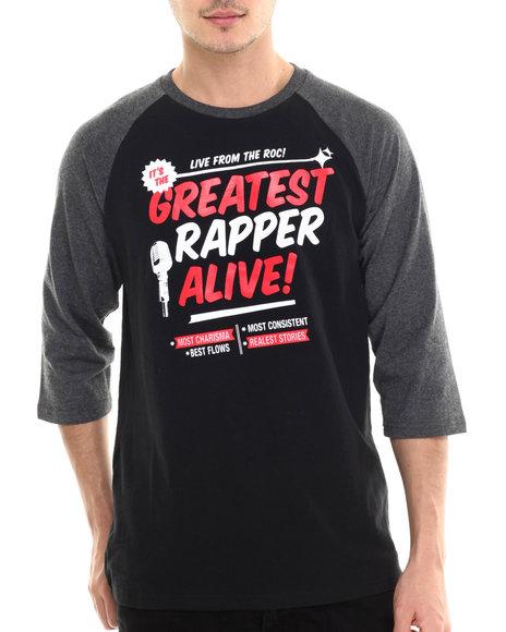 Rocawear - Men Black Greatest Rapper Alive Raglan Tee