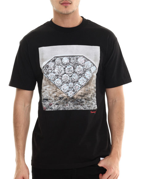 Diamond Supply Co - Men Black Diamond Ring Tee