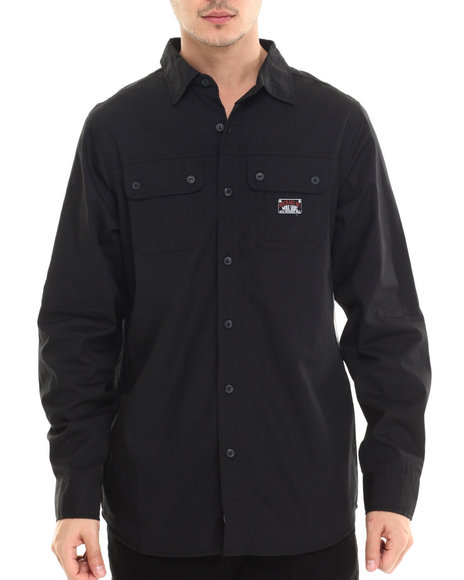 Rocawear - Men Black Nostrand Ave Poplin L/S Button-Down - $33.99