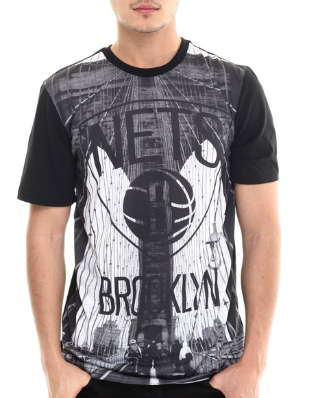 Nba, Mlb, Nfl Gear - Men Multi Brooklyn Skyline Sublimation S/S Tee