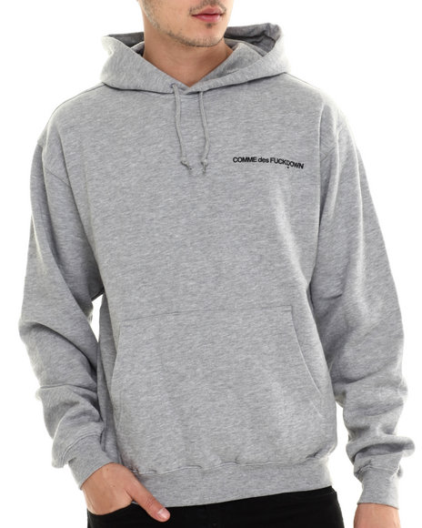 Ur-ID 213675 SSUR - Men Grey The Cut C D F D Low Key Pullover Hoodie