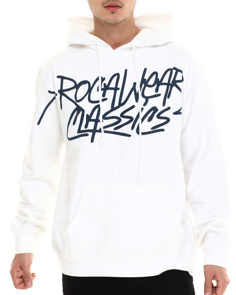 Rocawear - Men White Classics Pullover Hoodie