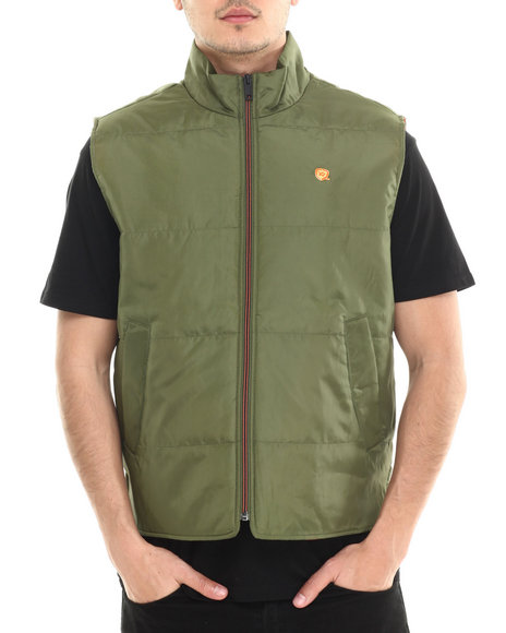 Rocawear - Men Olive,Orange Layer-Up Vest - $20.99