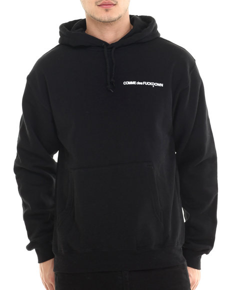 Ur-ID 213659 SSUR - Men Black The Cut C D F D Low Key Pullover Hoodie