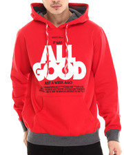 Hoodies - All Good Poster Pullover Hoodie