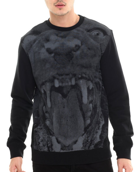 Rocawear - Men Black Panther Crew Sweatshirt