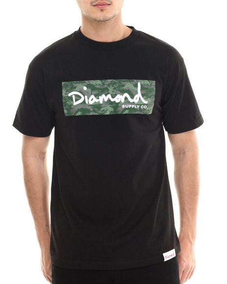 Diamond Supply Co - Men Black Tonal Box Logo Tee