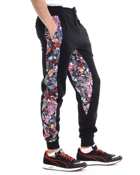 Nba, Mlb, Nfl Gear - Men Multi Nba Allover Stampede Jogger