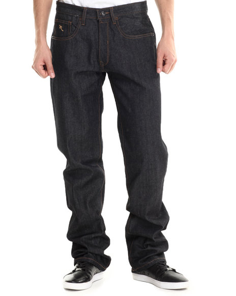 Rocawear - Men Raw Wash R Script Denim Jeans