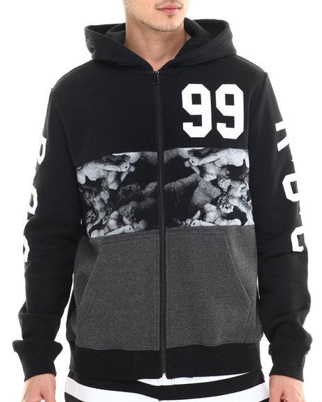 Rocawear - Men Black Shades Full Zip Hoodie