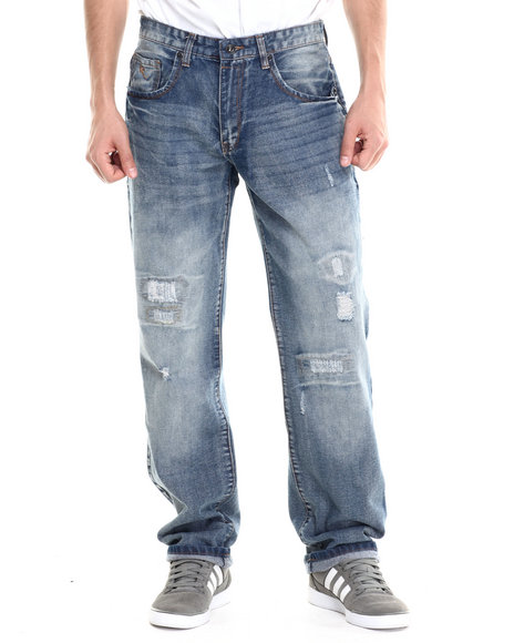 Rocawear - Men Medium Wash Badge Classic Fit Jeans